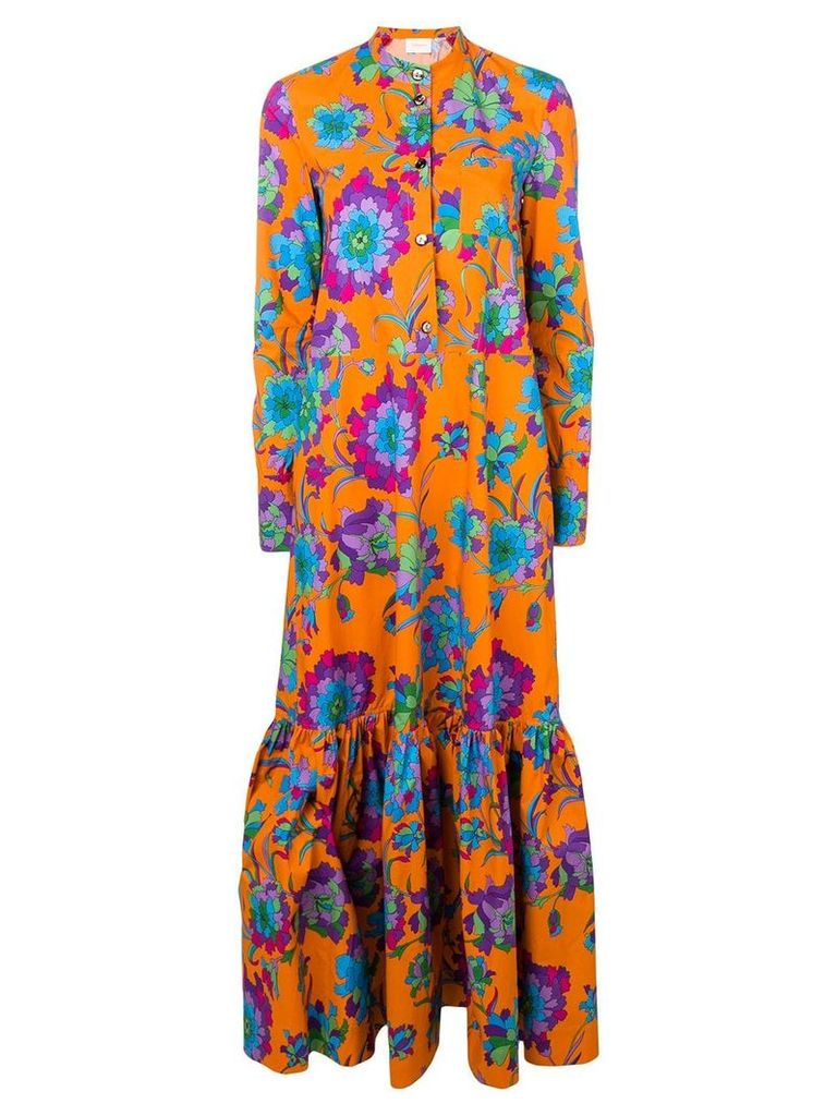 La Doublej maxi shirt dress - Orange