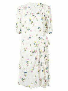 Vivetta printed midi dress - White