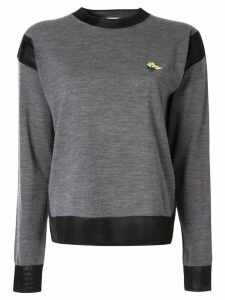 Sonia Rykiel bouquet embroidered sweatshirt - Grey