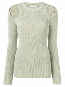 See By Chloé cold shoulder jumper - Neutrals