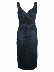Cushnie pinafore denim dress - Blue