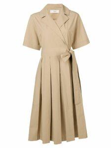 Pringle Of Scotland Pleated Tennis Dress - Neutrals