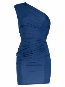Alexandre Vauthier One shoulder mini dress - Blue