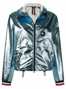 Rossignol metallic hooded bomber jacket - Blue
