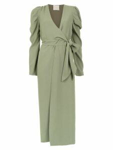 Framed Teshima wrap dress - Green