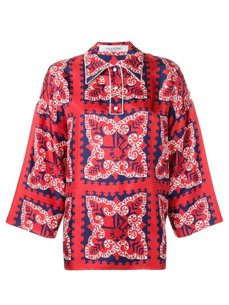Valentino mini bandana shirt - Red