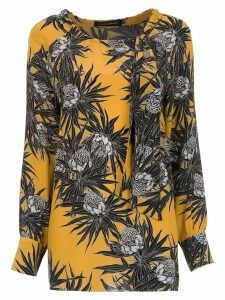 Andrea Marques printed silk blouse - Yellow