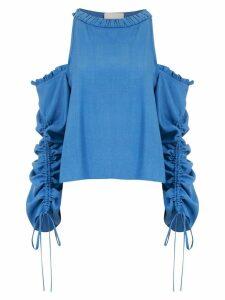 Framed Athena long sleeved top - Blue