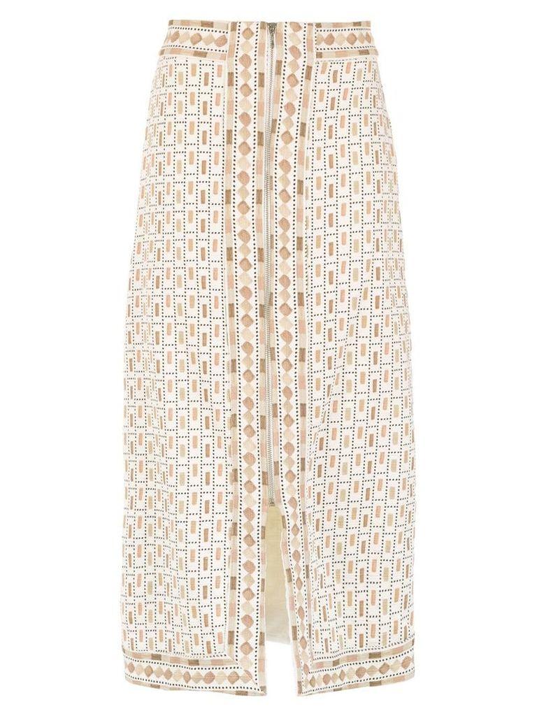 Framed Nairóbi midi skirt - Neutrals