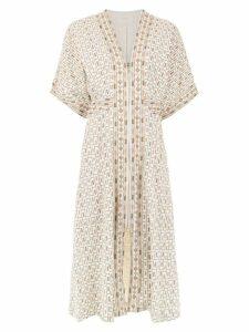 Framed Nairóbi midi dress - Neutrals