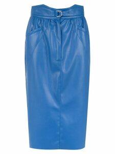 Framed Tulip midi skirt - Blue