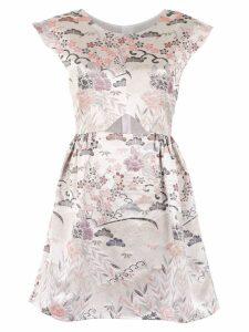Framed Tokyo printed dress - White