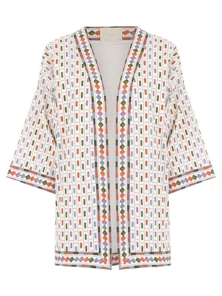 Framed Nairóbi kimono - White
