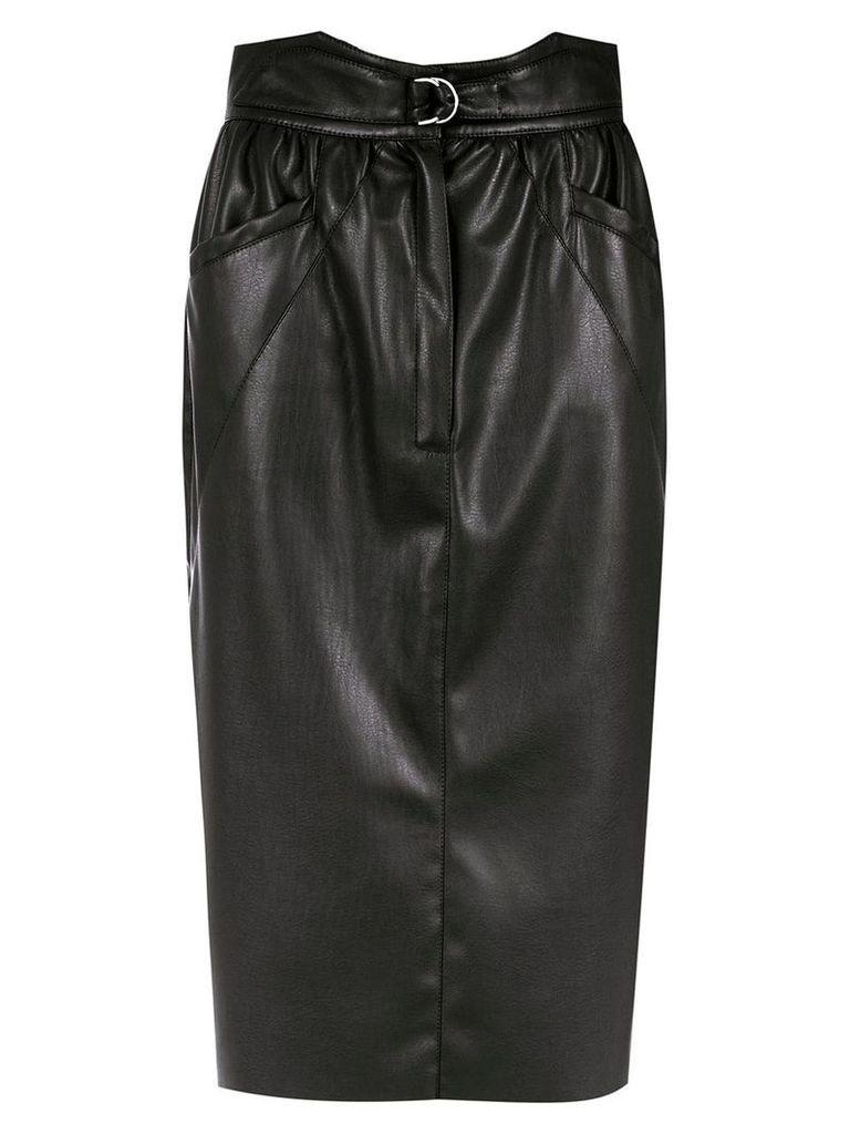 Framed Tulip midi skirt - Black