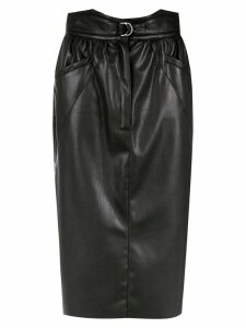 Framed Tulip midi skirt - Black