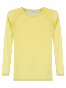 Mara Mac sheer blouse - Yellow