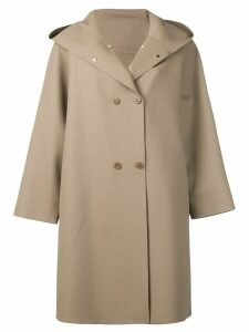 Max Mara hooded double-breasted coat - Brown