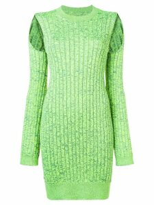 Mm6 Maison Margiela cut out shoulder dress - Green