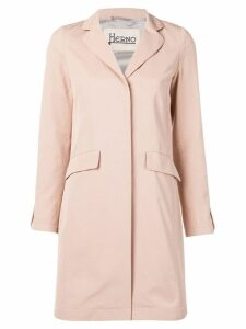 Herno classic single-breasted coat - Neutrals
