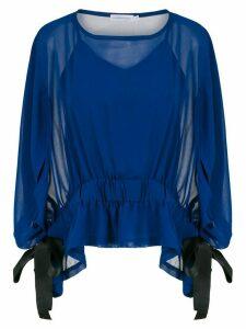 Mara Mac ruffled blouse - Blue