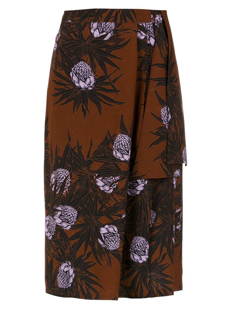 Andrea Marques printed midi skirt - Multicolour