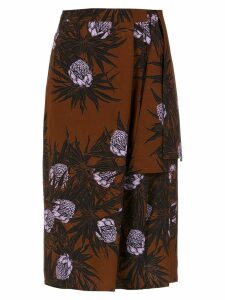 Andrea Marques printed midi skirt - Multicolour