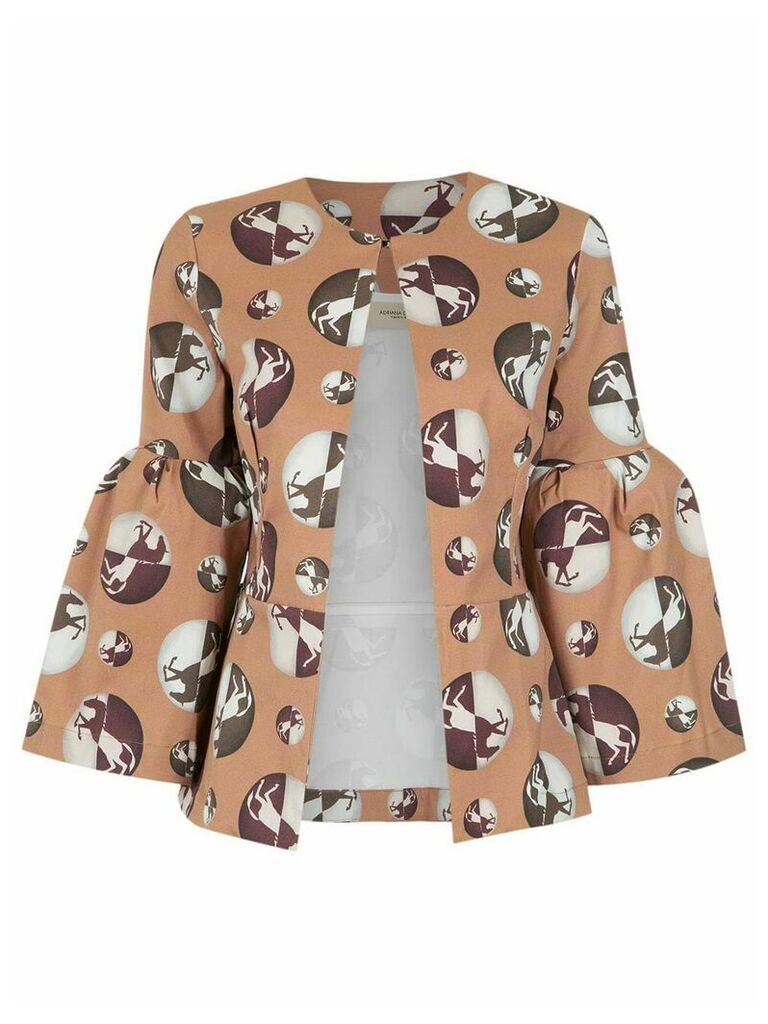 Adriana Degreas printed coat - Neutrals