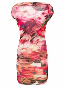 MSGM floral ruched dress - Pink