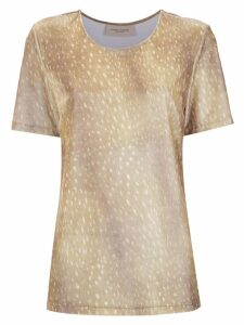 Adriana Degreas printed velvet top - Neutrals