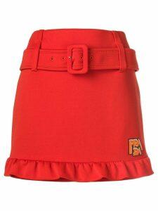 Prada belted mini skirt - Orange