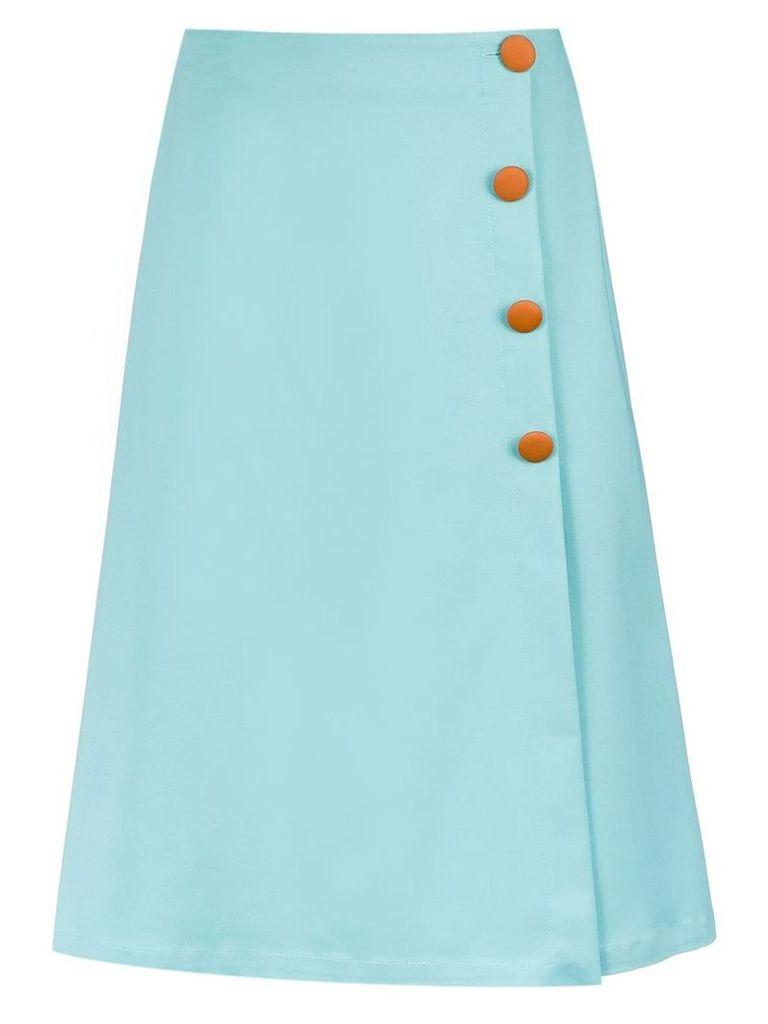 Adriana Degreas button-up midi skirt - Blue