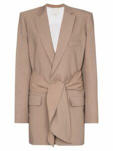 Tibi Tie front blazer - Brown