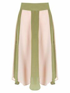 Adriana Degreas silk Gotas skirt - Pink