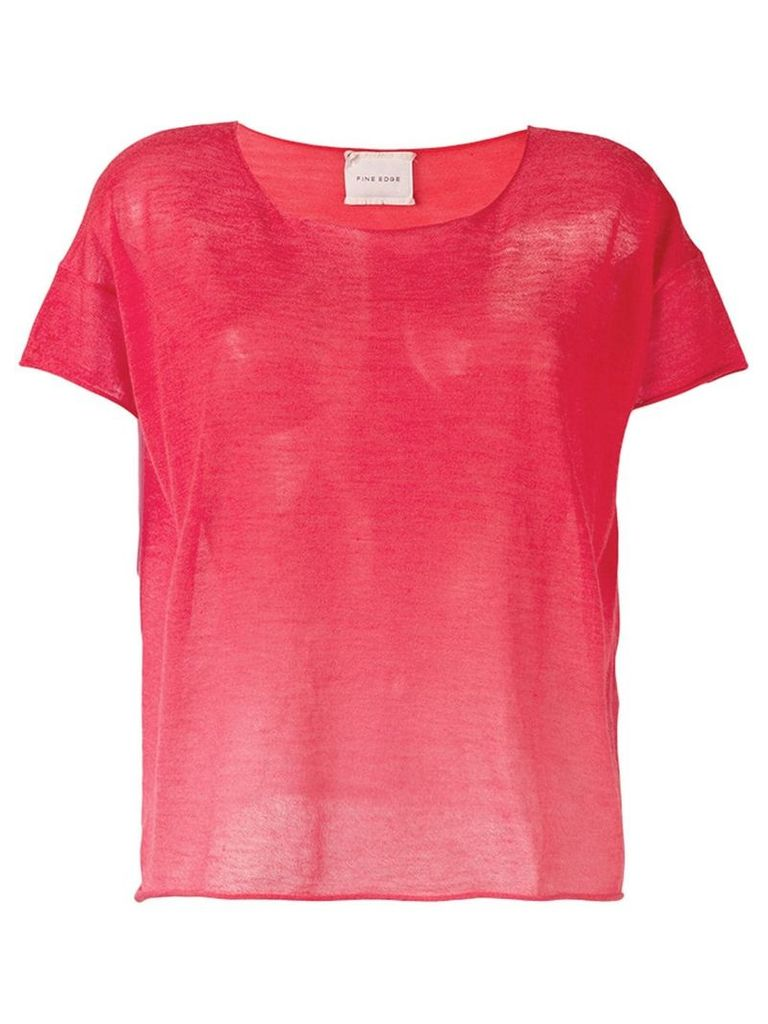 Fine Edge ombré Degrade knitted top - Red