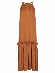 Tibi Tiered ruffled midi-dress - Orange