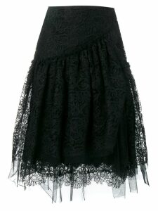 Ermanno Scervino scalloped lace pattern skirt - Black
