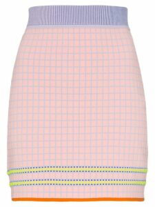 i-am-chen high-waisted checked mini skirt - Pink