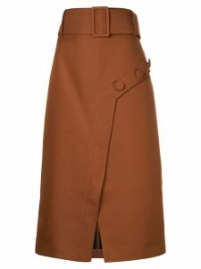 CAMILLA AND MARC Faith belted skirt - Brown