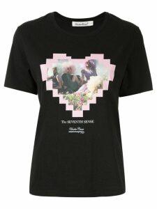 UNDERCOVER black love heart T-shirt