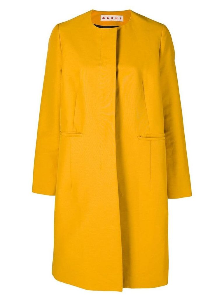 Marni single-breasted fitted coat - Yellow