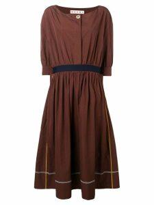 Marni round neck dress - Brown