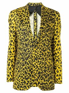R13 leopard print blazer - Yellow