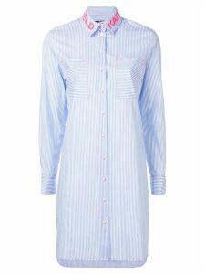 Karl Lagerfeld pinstripe tunic - Blue