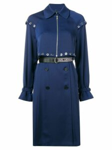 Karl Lagerfeld Transformer pleated trench coat - Blue