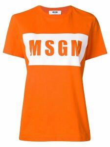 MSGM logo print T-shirt - Orange