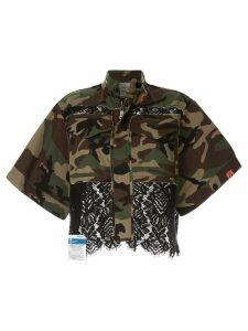 Maison Mihara Yasuhiro lace camouflage jacket - Green