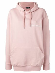 Throwback. pink oversized hoodie