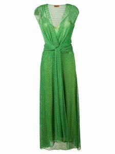 Missoni lamé mesh maxi dress - Green