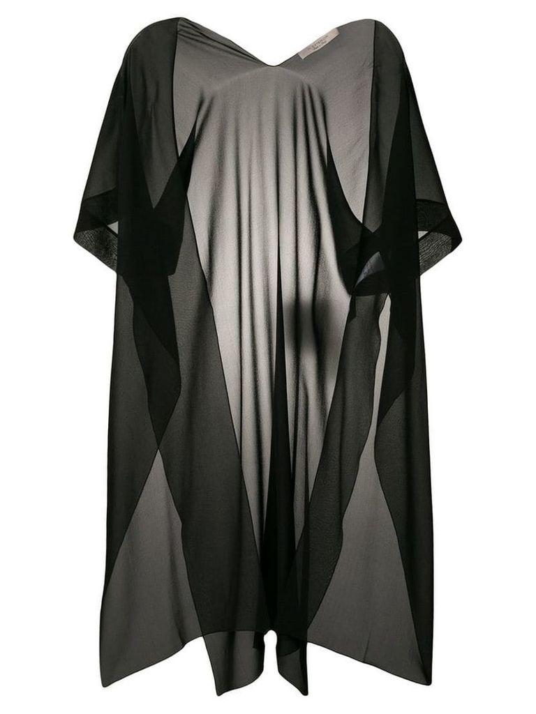 D.Exterior sheer Georgette kimono - Black