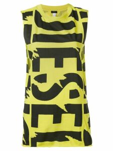 Diesel logo print vest top - Yellow